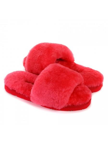 UGG Fluff Slide Slippers WATERMELON RED